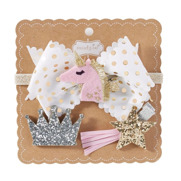 Unicorn 3 in 1 Bow Set for Baby - the unicorn store