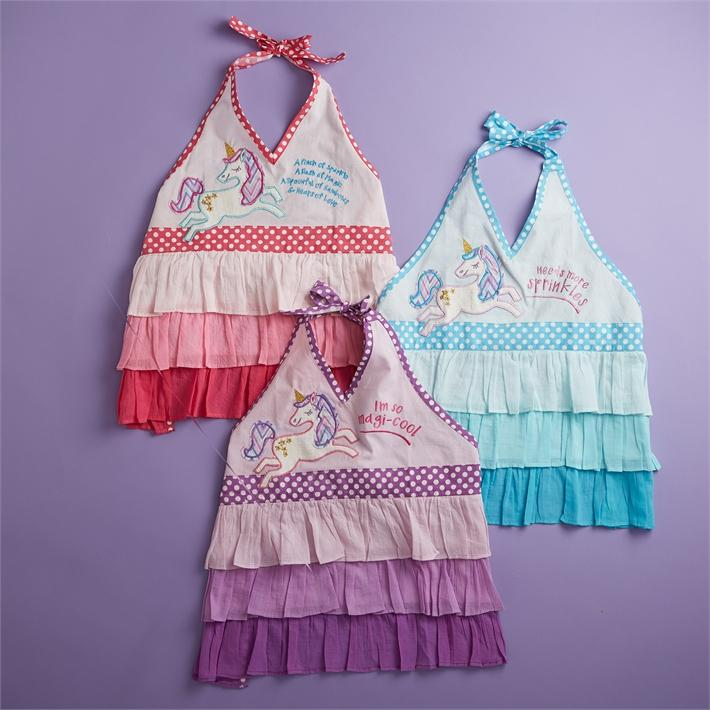 Kids Ruffled Unicorn Apron - the unicorn store