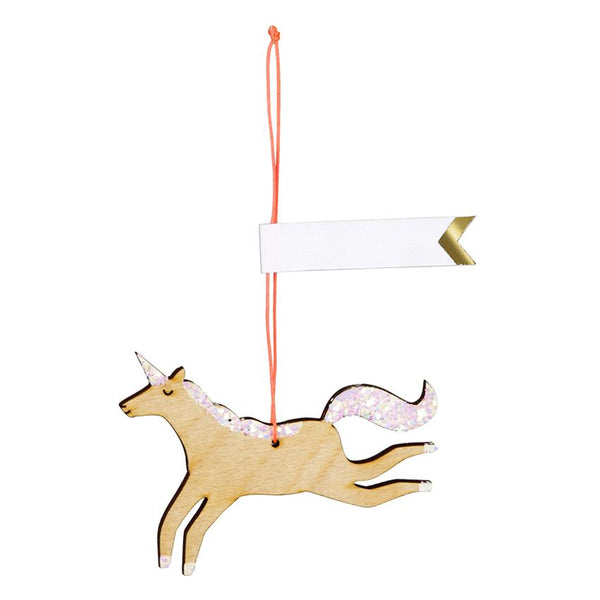 Wooden Glitter Unicorn Gift Tags