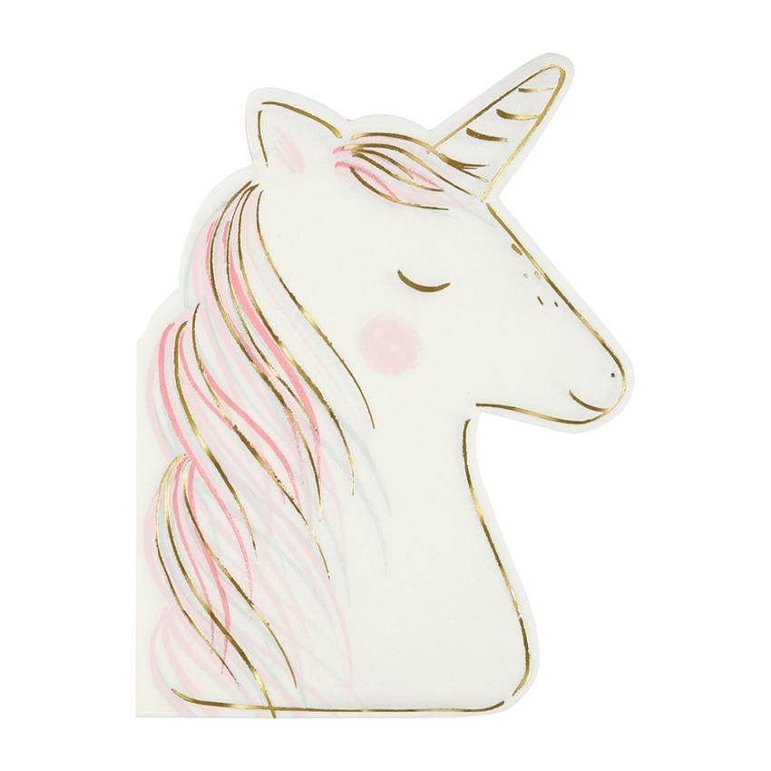 Unicorn Napkins - Set of 16
