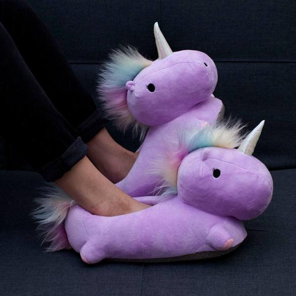 Unicorn USB Heated Slippers - Purple