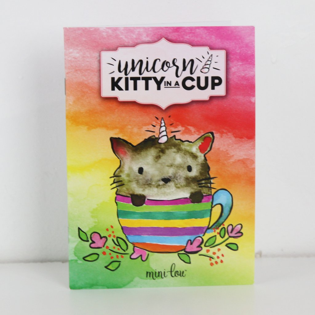 Unicorn Kitty in a Cup - Mini lou Coloring Book