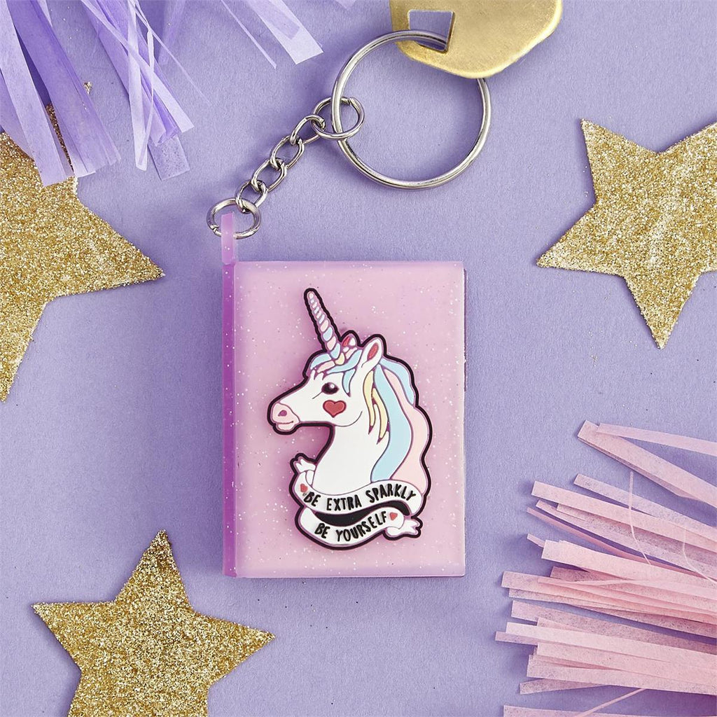 Unicorn Mini Notebook Key Chain