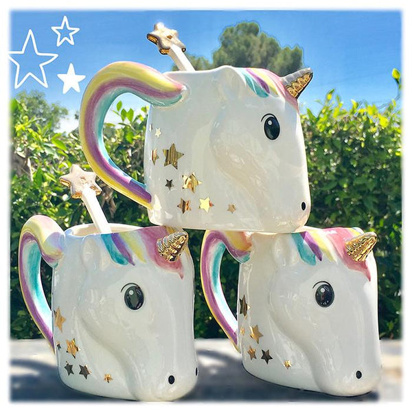 Unicorn Mug With Star Stirrer - the unicorn store