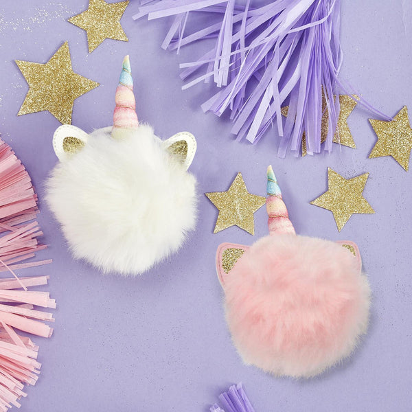 Unicorn Sparkles Pom Pom Hair Tie