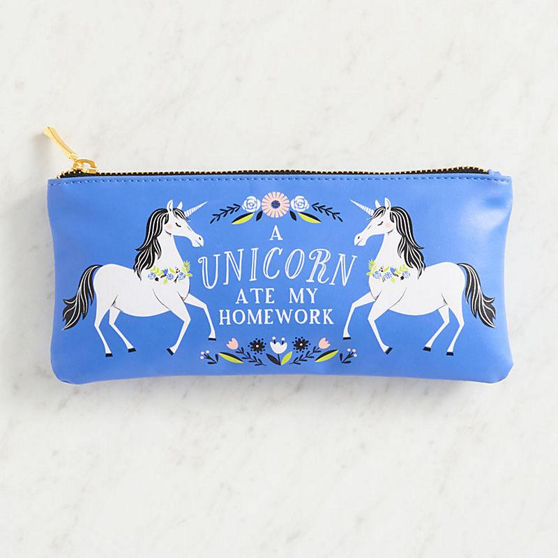 A Unicorn Ate My Homework Pencil Pouch - the unicorn store