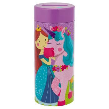 Unicorn Princess Tin Bank With Puzzle