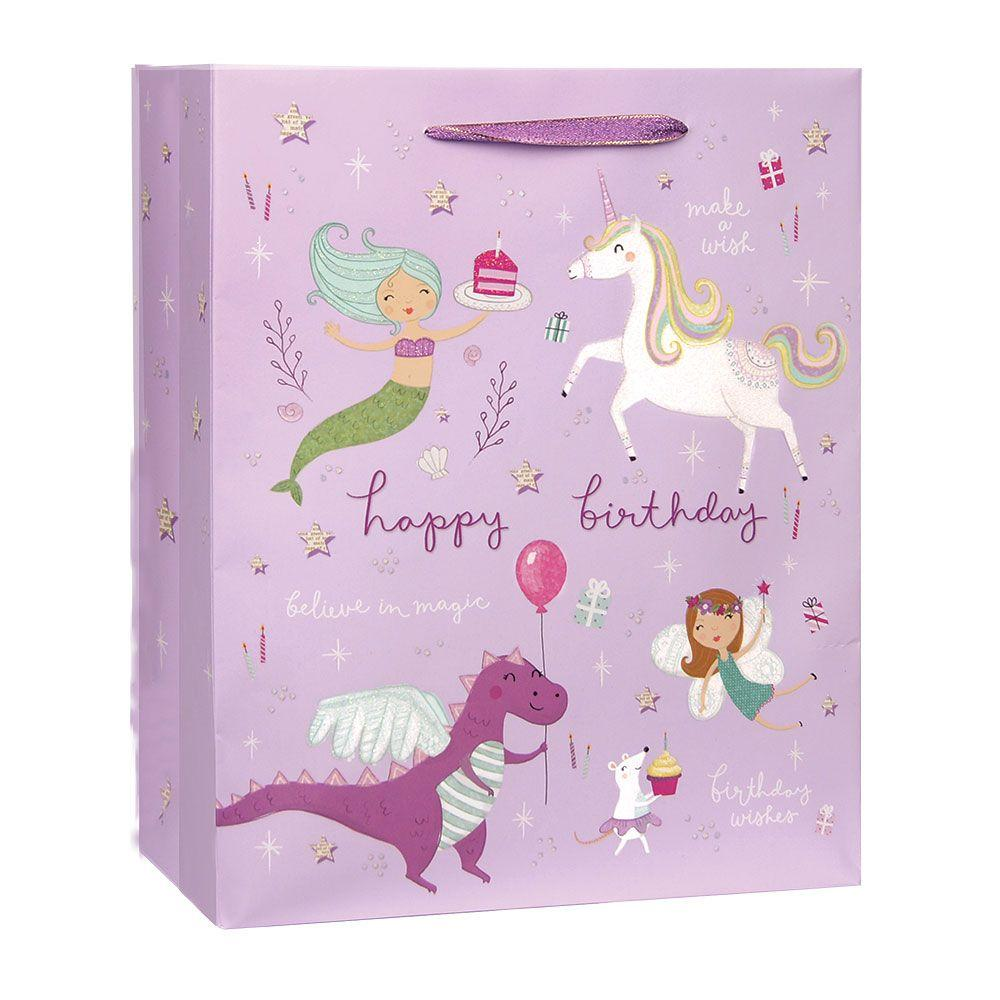 Fantastical Birthday Small/Medium Gift Bag - the unicorn store