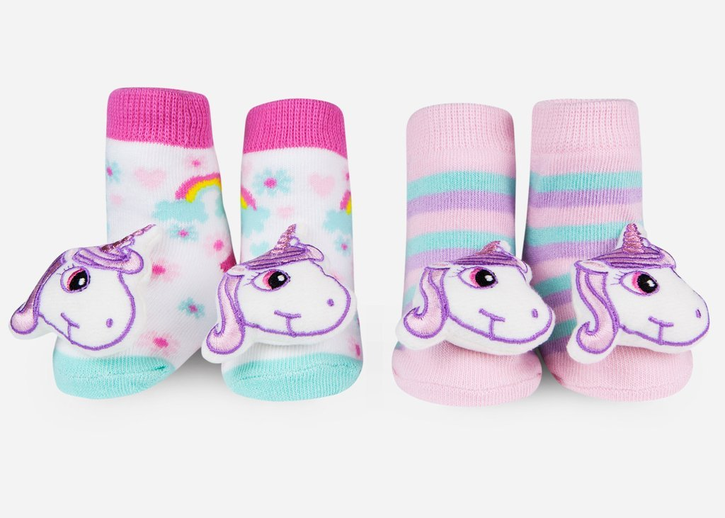 Unicorn Rattle Socks