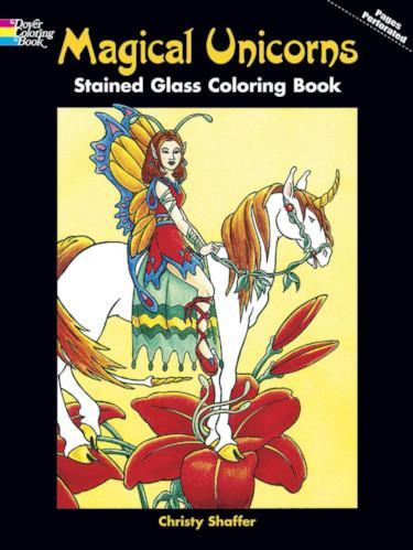 Magical Unicorns Stained Glass Coloring Book - the unicorn store