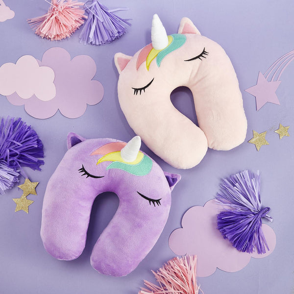 Unicorn plush travel pillows