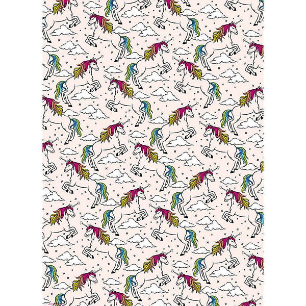 Pink unicorn gift wrap