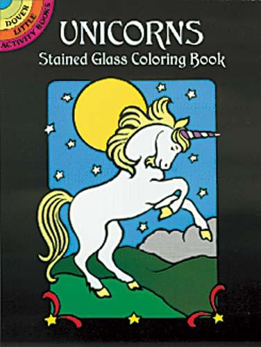 Unicorns Stained Glass - Mini Coloring Book