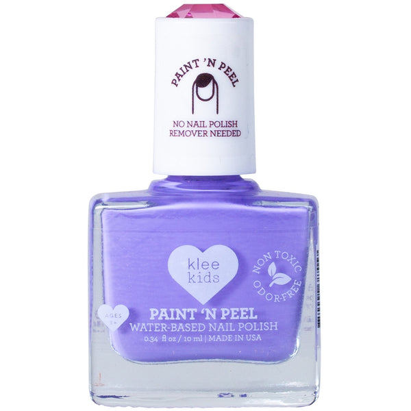 peel off nail polish in purple