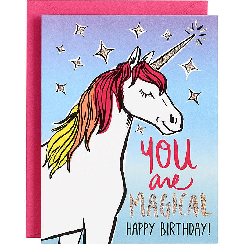 You Are Magical Unicorn Birthday Card the unicorn store – Birthday Card Store