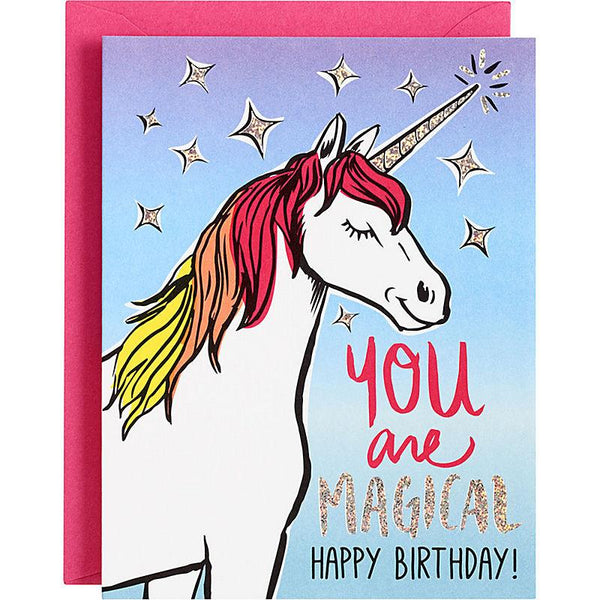 You Are Magical - Unicorn Birthday Card - the unicorn store