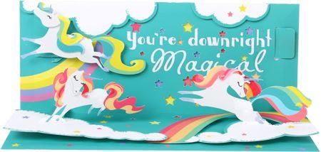 Magical 3D Pop-Up Any Occasion Card - the unicorn store