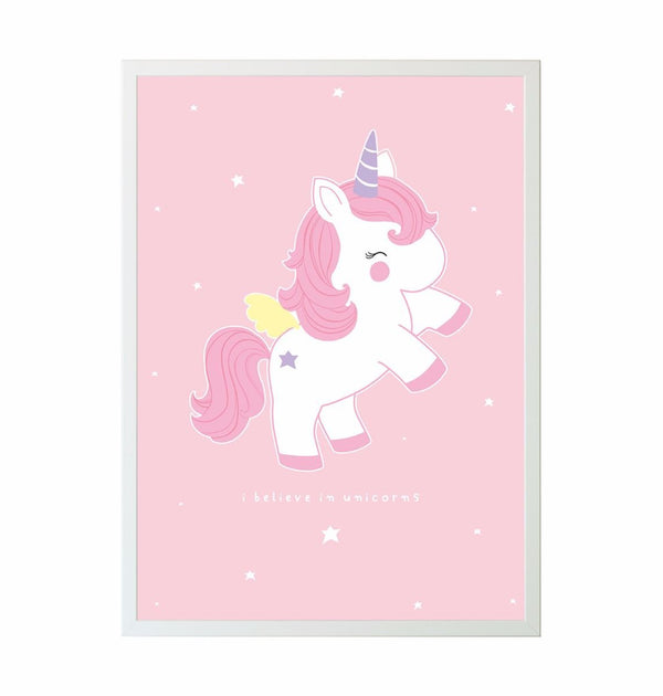 "Baby Unicorn ""I Believe in Unicorns"" Poster"