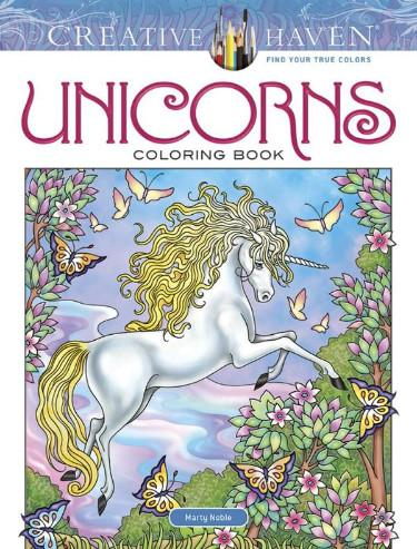 Creative Haven Unicorns Coloring Book - the unicorn store