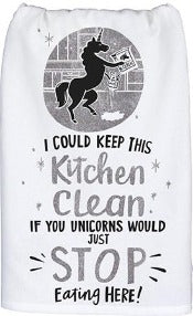 Clean Kitchen Unicorn - Dish Towel