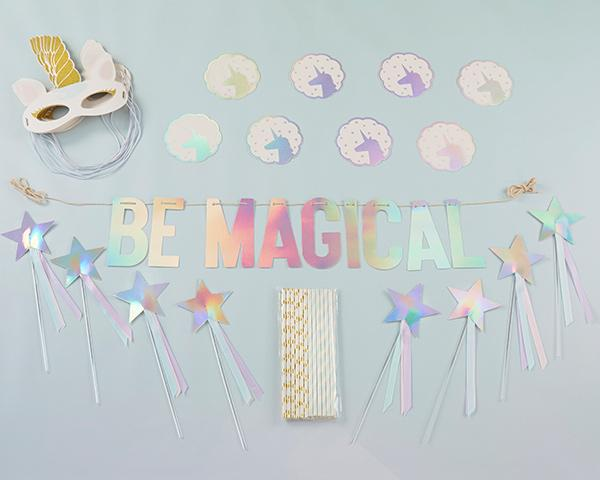 Enchanted Unicorn 49 Piece Party Decor Kit - the unicorn store
