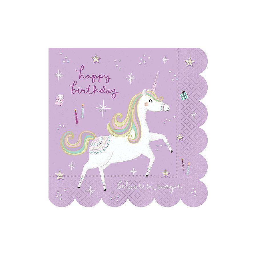 Fantastical Birthday Napkins - Set of 16 - the unicorn store