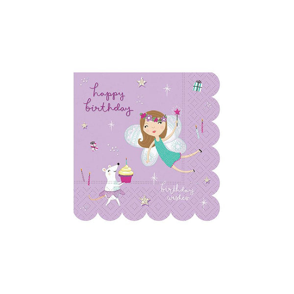 Fantastical Birthday Beverage Napkins - Set of 16 - the unicorn store