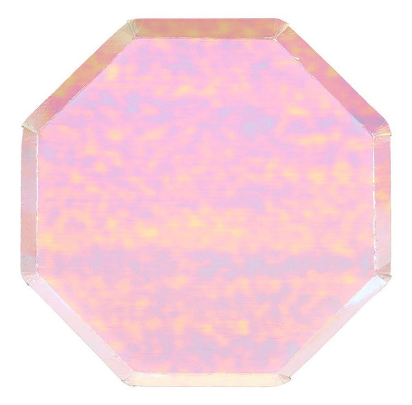 Iridescent Foil Octagonal Dinner Plates - Set of 8 - the unicorn store