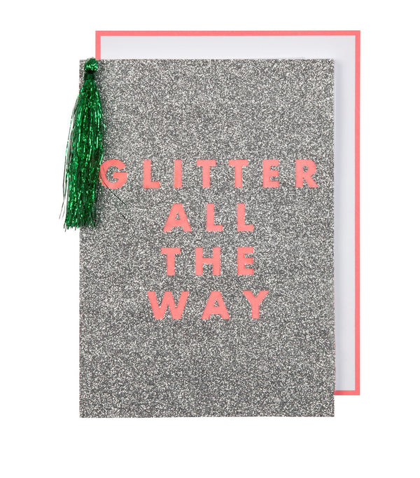 Glitter All The Way - Holiday Card - the unicorn store