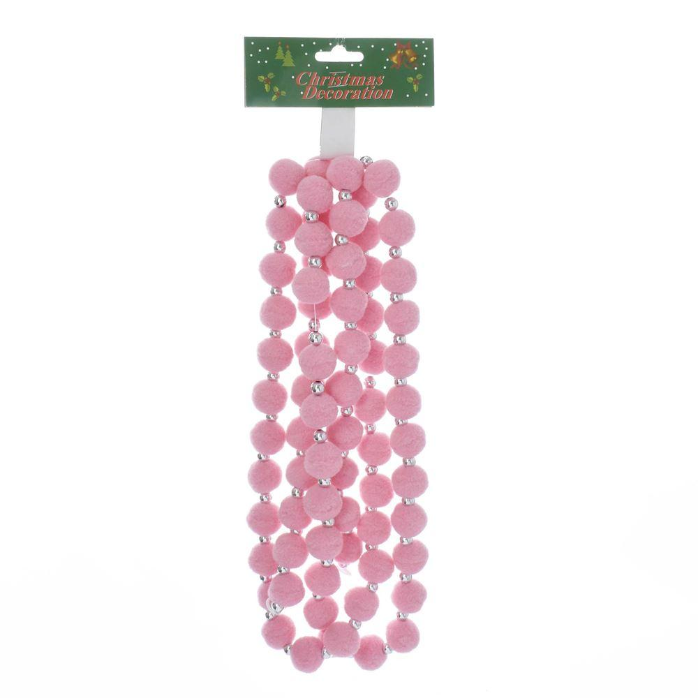 Pink Pearlized Pom Pom Garland - the unicorn store