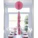 Decadent Pink Honeycomb Tassel Decoration