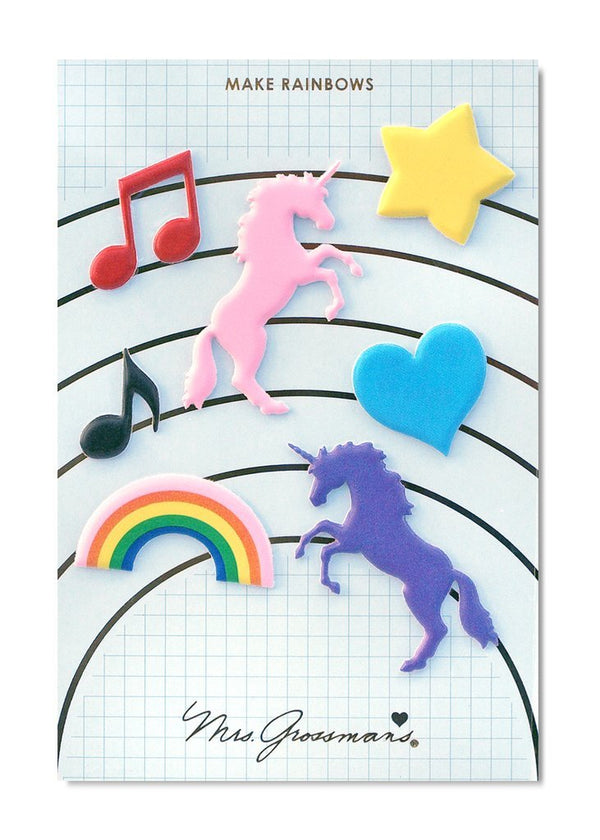 Make Rainbows & Unicorns - Puffy Stickers - the unicorn store