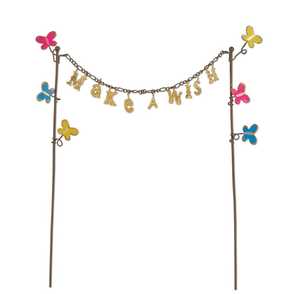 Mini Garden Glitter Wish Banner - the unicorn store