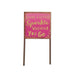Mini Garden Pink Sparkle Sign - the unicorn store