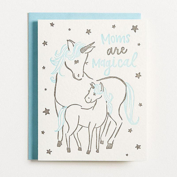 Moms Are Magical Card - the unicorn store