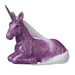Laying Purple Glitter Unicorn Figure