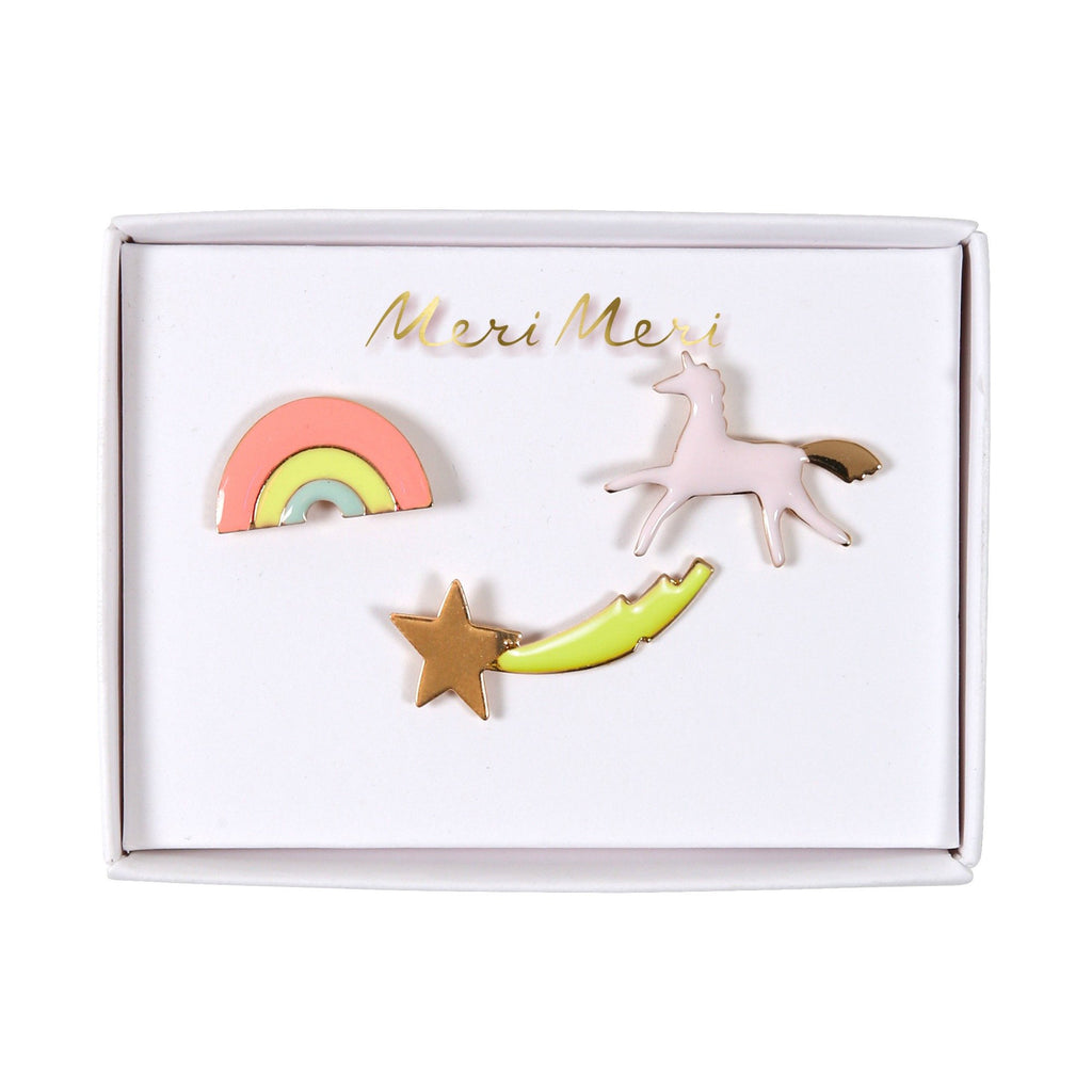 Unicorn Enamel Pins - Set of 3 - the unicorn store
