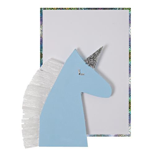 Blue Unicorn Enclosure Card
