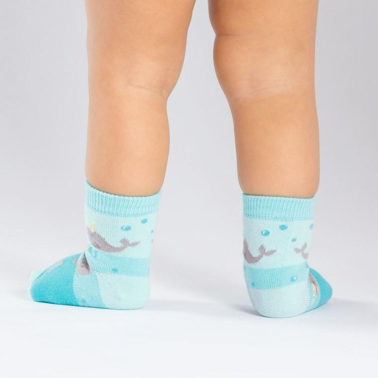 Narwhal Unicorn Of The Sea Toddler Crew Socks - the unicorn store