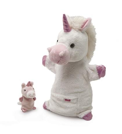 Unicorn Puppet with Baby puppet