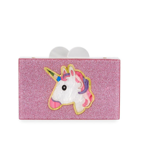 Unicorn Believe Acrylic Box Clutch Bag - the unicorn store