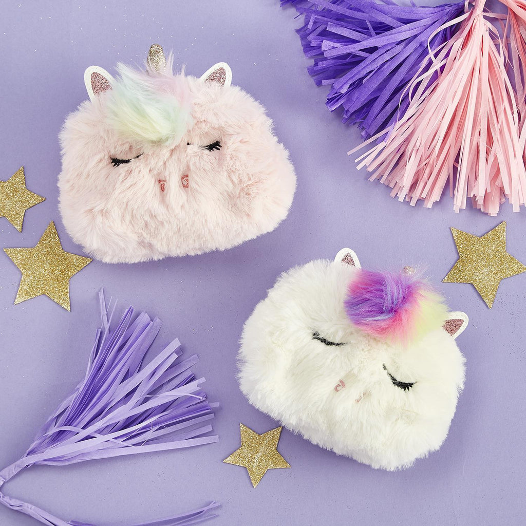 Unicorn Fuzzy Coin Purse