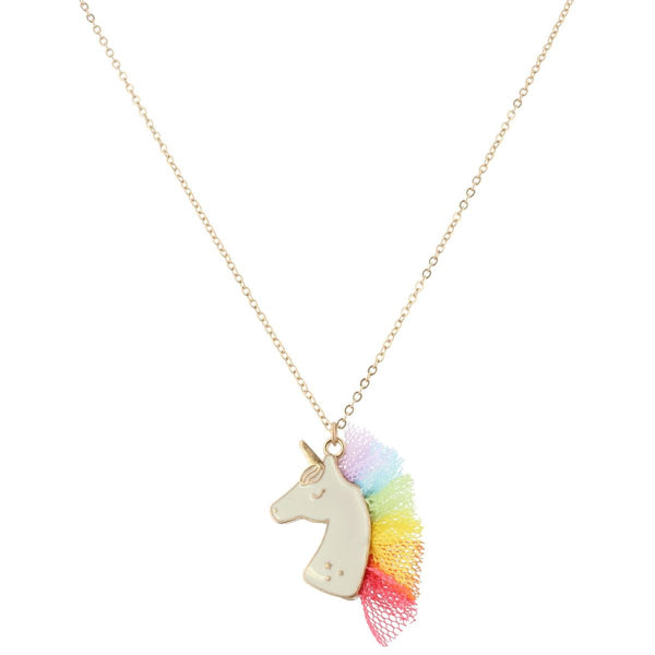Unicorn Necklace with Tulle Mane