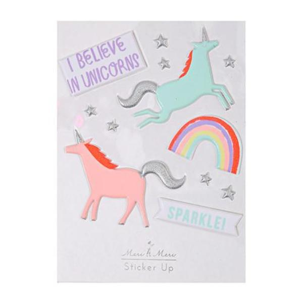Unicorn Puffy Stickers - the unicorn store