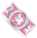 pink slap watch with winged unicorns and rainbows