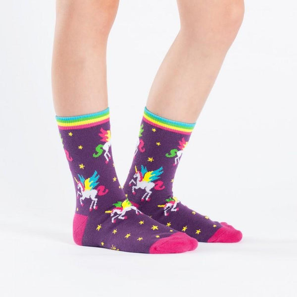 Winging It Junior Crew Socks - Ages 7-10
