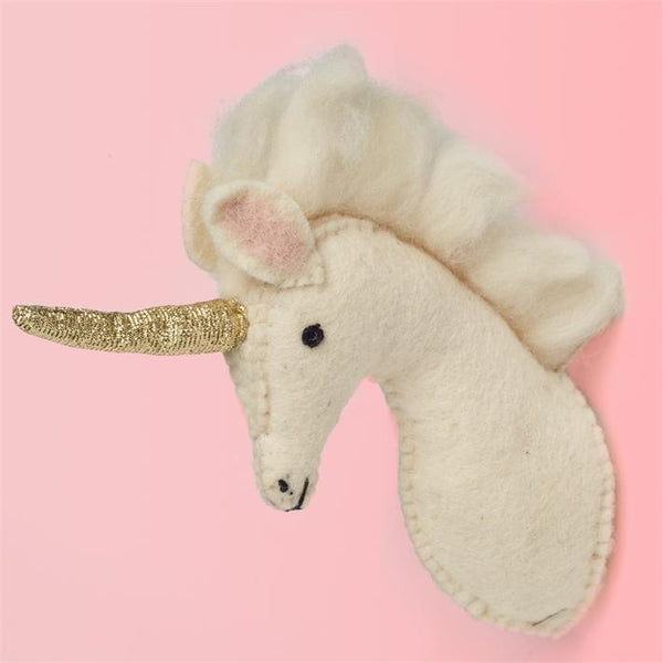 Miniature Unicorn Trophy Head Hanging Wall Décor