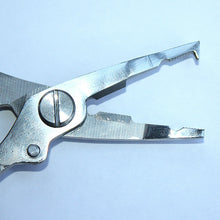 STAINLESS SPLIT RING PLIERS WITH BRAID CUTTER