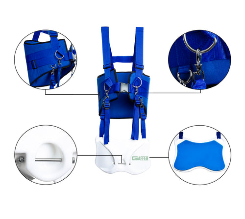 Gaffer Sportfishing Fishing Shoulder Harness with Fighting Belt - Offshore Fishing Rod Holder