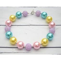 Chunky necklace and bracelet Girl bubble gum necklace